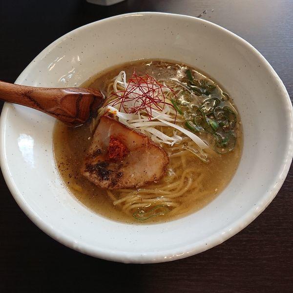 「煮干し中華そば 塩  @750円」@Soba. Noodle 鶴 -HAKU-の写真