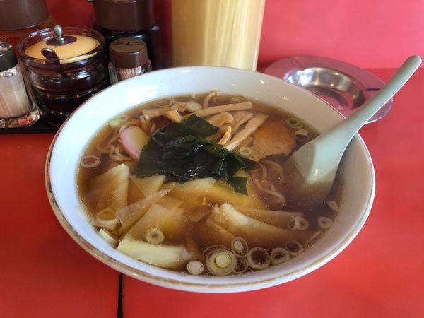 「ワンタン麺  600円」@中華料理 わかまつの写真