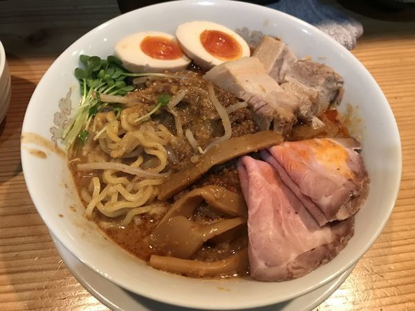 「特製濃厚海老担々麺」@昇神 丸の内店の写真