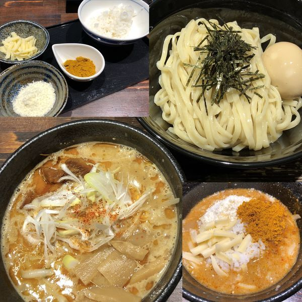 「つけ麺+味玉+リゾットセット+カレー粉」@麺や 蒼 AOIの写真