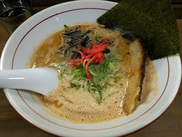 「海老豚骨ラーメン +替玉」@ラーメン ヌプチェの写真