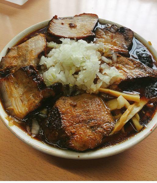 「チャーシュー麺(やくみ)」@梅乃家の写真