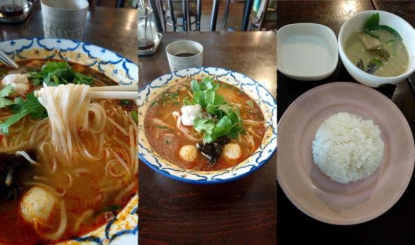 「『トムヤムラーメン+ミニグリーンカレーセット(税込¥999)」@タイ屋台料理 バナナ食堂の写真