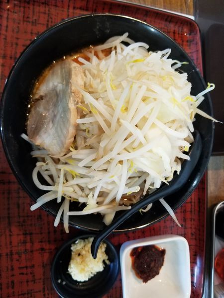 「じろう味噌(野菜マシ)辛み100円」@らーめん次郎冠者 上阿原店の写真