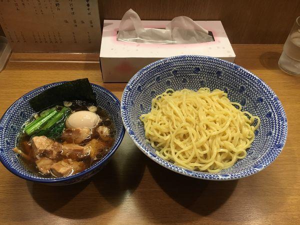 「つけ麺 あつ  醤油 ➕ 味玉」@中華そば こましょうの写真