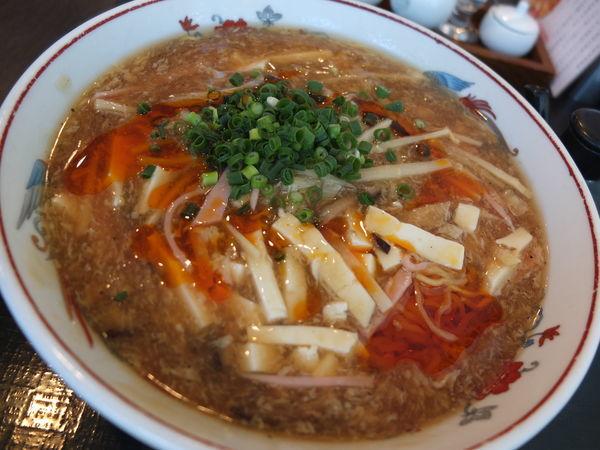 「サンラー湯麺」@中国レストラン 雪園の写真