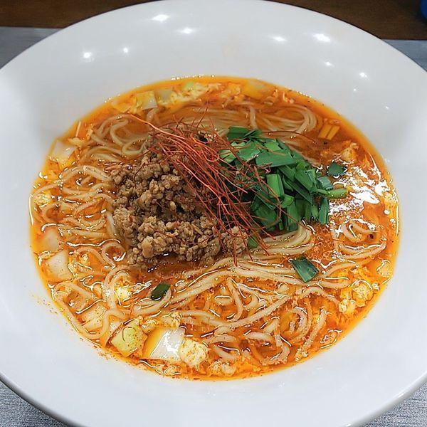 「【本日の限定】夢者風酸辣湯 仮」@麺丼Dining 夢者の写真