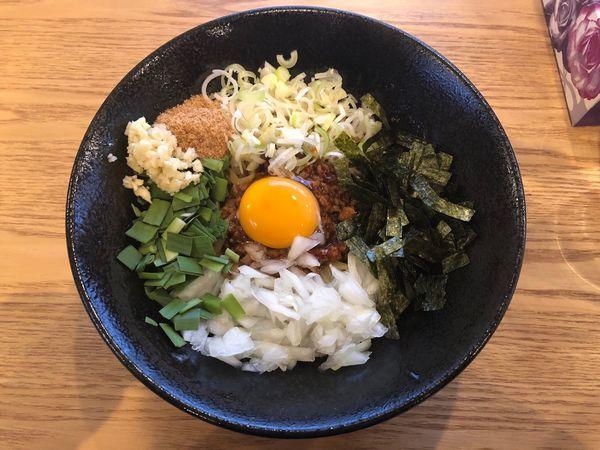 「台湾まぜそば」@益子町 まー麺の写真