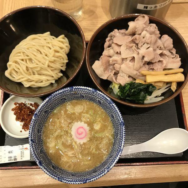 「赤辛つけ肉 麺ハーフ」@舎鈴 田町駅前店の写真