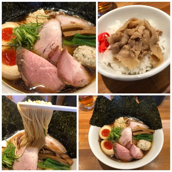 「特製醤油そば1000円 + 豚バラご飯 280円」@麺処 いち林の写真