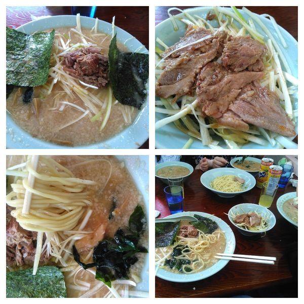 「ネギらーめん(太麺に変更)+中盛り+ネギチャーシュー丼」@ラーメンショップ 牛久結束店の写真