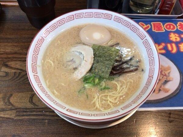 「味玉豚骨醤油ラーメン 600円+替え玉50円」@豚骨ラーメン いちもんじの写真