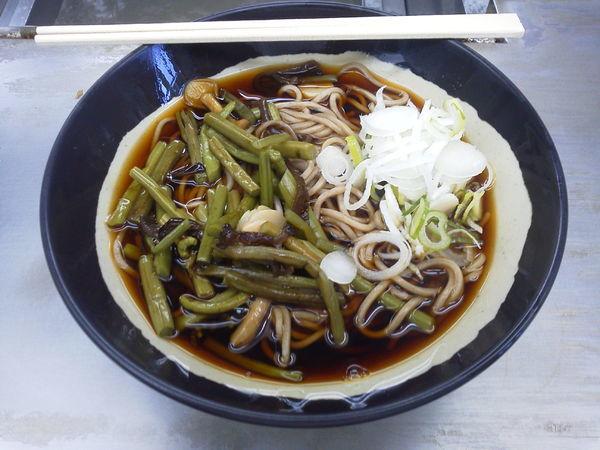 「山菜そば 390円」@日栄軒の写真