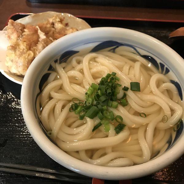 「かけ(小)(¥500)+かしわ天(¥400)」@讃岐うどん 蔵之介の写真