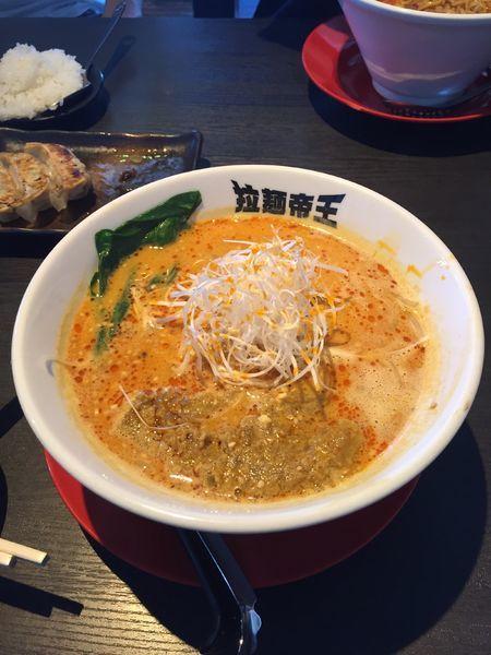 「胡麻味噌担々麺」@拉麺帝王の写真