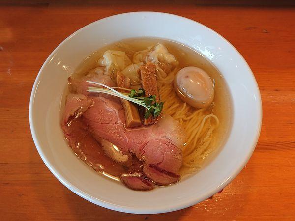 「特製塩煮干しそば 950円」@麺処 清水の写真