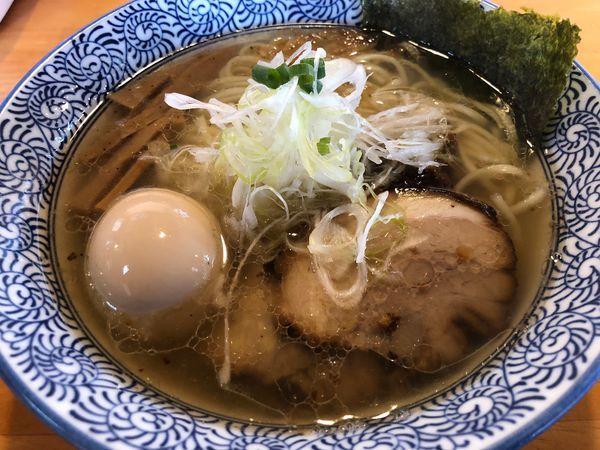 「海老塩ラーメン750円」@麺処 門つるの写真