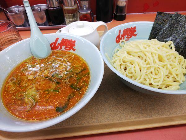 「辛味噌つけ麺(サービス券&100円)」@ラーメン山岡家 笛吹店の写真