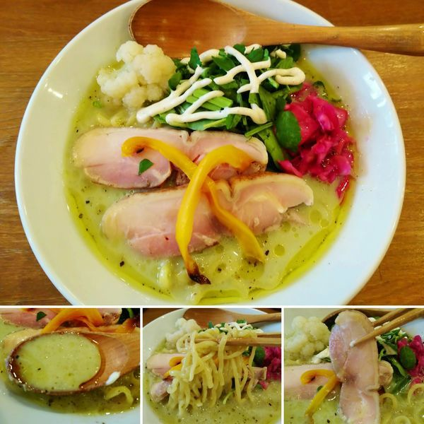 「冷やしブロッコリーポタ(5月限定)  1000円」@鶏ポタラーメン THANK お茶の水の写真