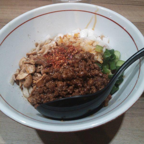 「汁なし坦々麺」@ラーメン まぜそば えにしの写真