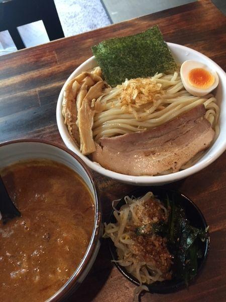 「濃魚つけ麵・辛うま(麵倍盛り) 750円」@オリオン食堂の写真