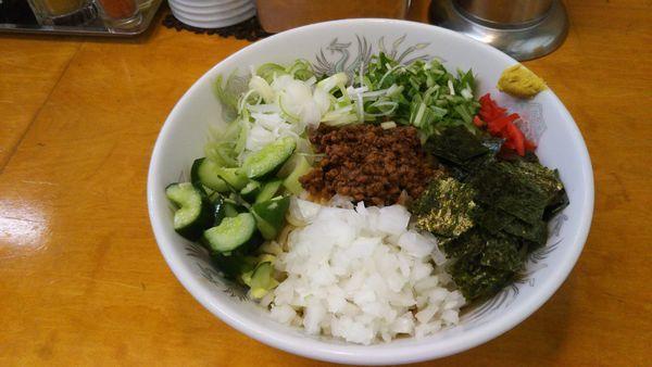 「台湾マゼソバぽっい冷し中華」@餃子・定食・ラーメン 昭和の写真