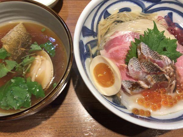 「限定:豪華いさきと蛤のつけそば1500円」@寿製麺よしかわ 川越店の写真