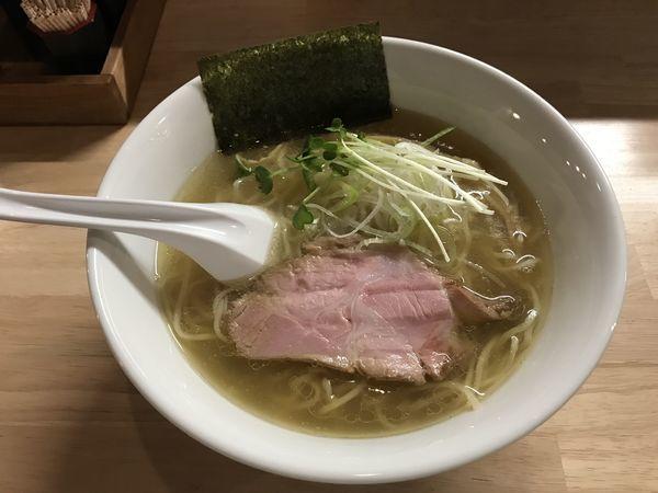 「香味そば塩」@麺屋 白鷺 -shirasagi-の写真