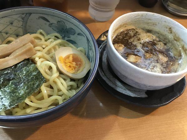 「豚骨魚介つけ麺」@焦がしねぎらーめん 葱次郎の写真