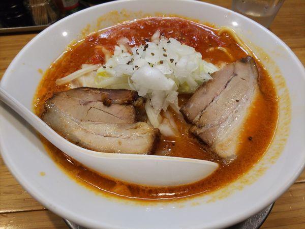 「とまとチリ(太麺)」@カッパ64 福生店の写真