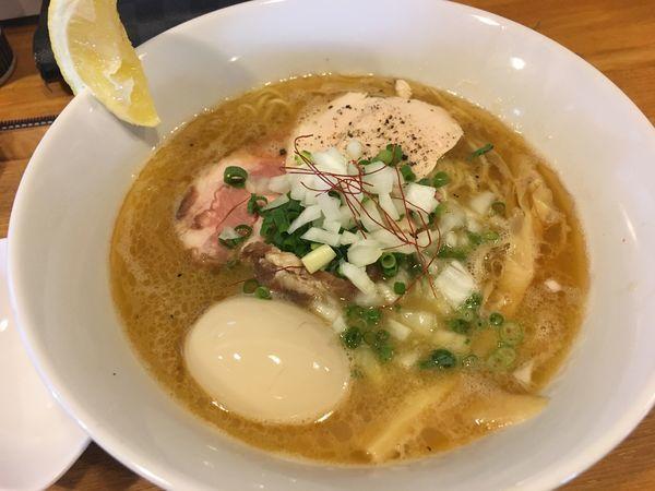 「鶏白湯そば+味玉」@中華蕎麦 はざまの写真