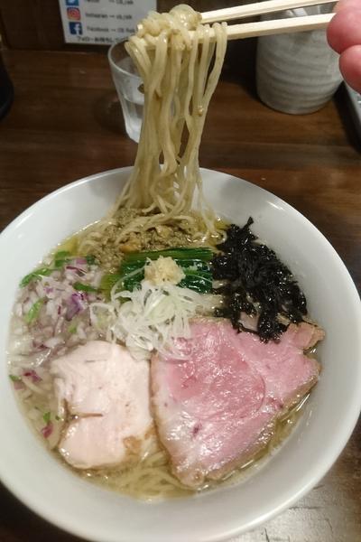 「鮮魚の潮そば」@CLAM&BONITO貝節麺RAIKの写真