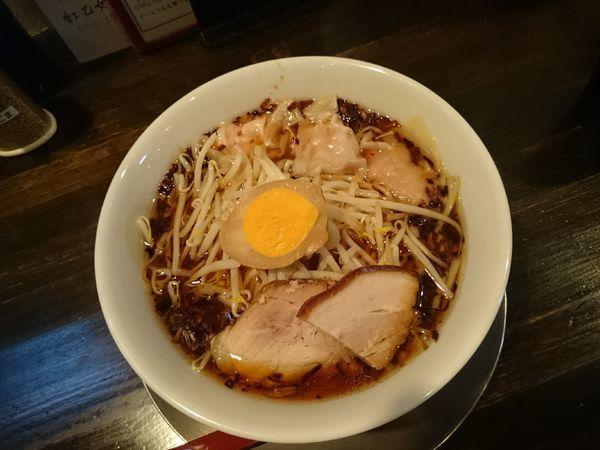 「裏メニュー 揚げネギラーメン 800円」@四川担担麺長尾 CHILL DININGの写真