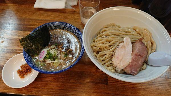 「濃厚豚骨鶏魚介つけ麺(並) 880円」@阿波家 信州始店の写真