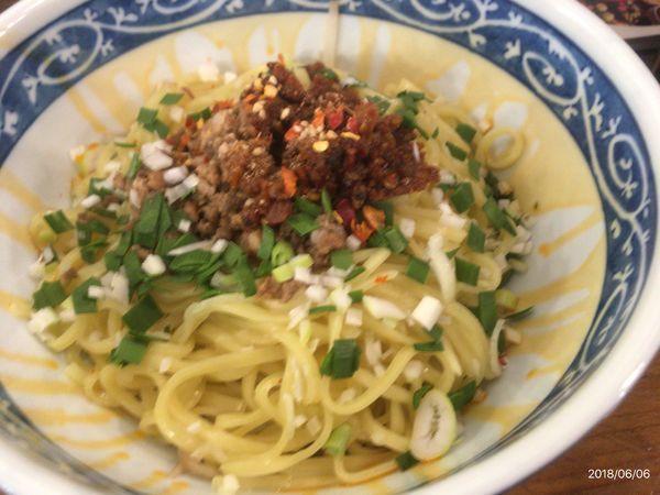 「汁無し坦々麺(普通麺)」@富士ノ山食堂 八王子明神町店の写真