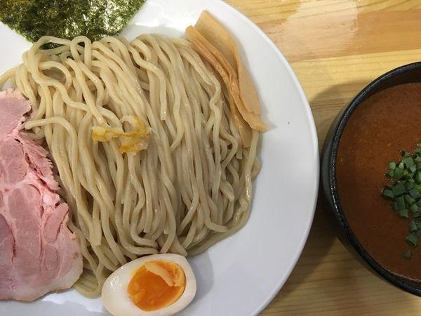 「辛つけ麺 900円」@麺匠 京の写真