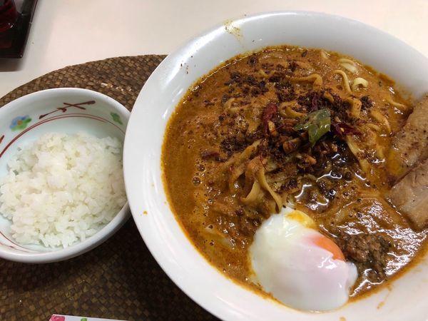 「黒カラシビ麺  メガ盛り」@龍門瀑の写真