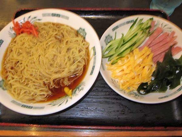 「黒酢しょうゆ冷し麺 530円」@日高屋 上野広小路店の写真