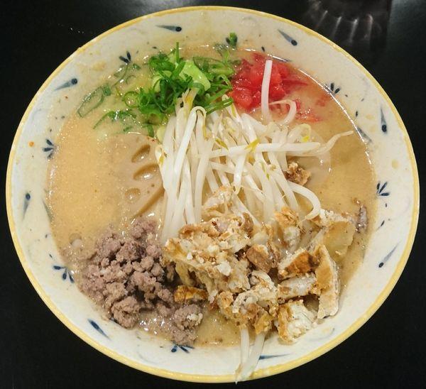 「濃厚味噌らぁ麺+こだわり味玉」@みそ味専門マタドールの写真