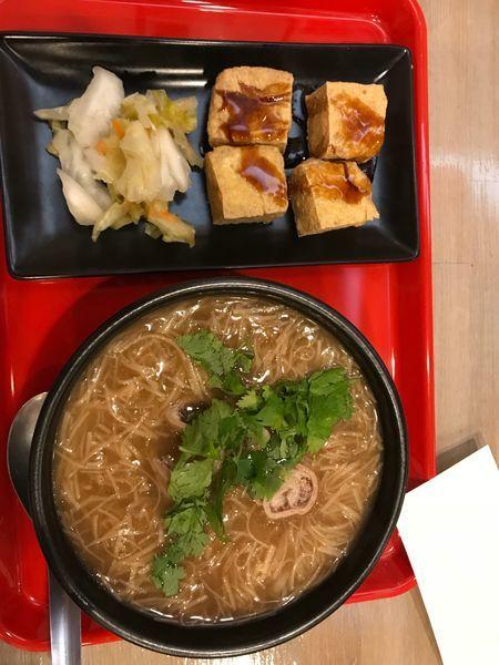 「揚臭豆腐、麺線セット 1,100円」@台湾麺線の写真