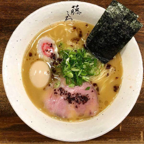 「鶏白湯 味玉ラーメン」@麺屋 藤しろ 目黒店の写真