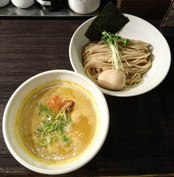 「つけそば(並盛)+味玉」@鶏そば 雫一 大袋店の写真