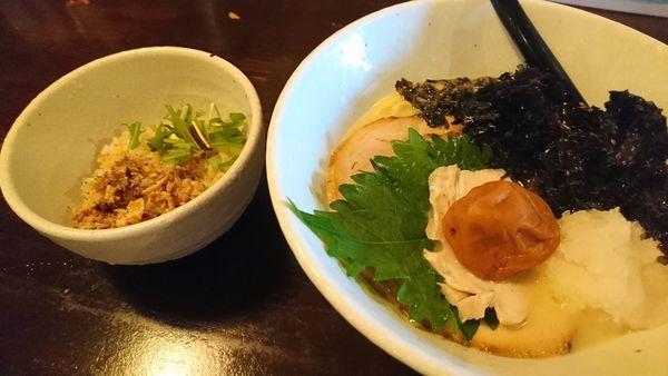 「梅海苔しおらーめん800円」@ら麺 はちにの写真