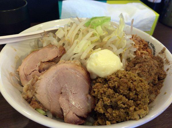 「汁なしキーマ(1000円)アブラ以外全マシ」@RAMEN NOROSHI 東大宮の写真