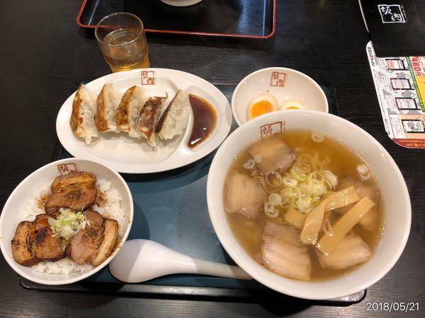 「ラーメン+焼豚丼+餃子セット」@喜多方ラーメン 坂内 蘇我店の写真