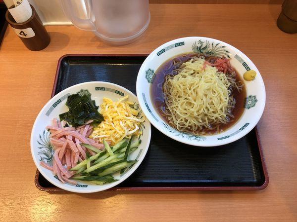 「黒酢しょうゆ冷し麺」@日高屋 成城学園前駅北口店の写真