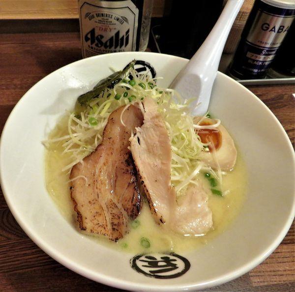 「鶏白湯塩(700円)+スーパードライ」@まる兵製麺の写真