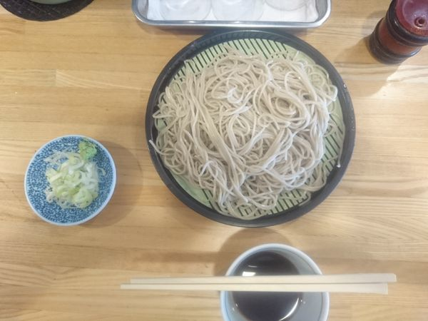 「もり蕎麦+ゲソ天 450円」@福そばの写真