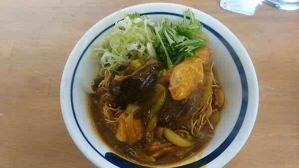 「揚げ蕎麦ぶっかけカレー南蛮C」@MENYA 食い味の道有楽の写真