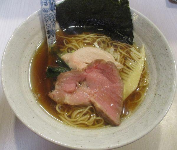 「醤油そば(中華麺)780円」@蕎麦いなりの写真